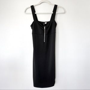 H&M | Sexy Black Zip Up Dress LBD
